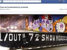 Grafite é apagado no Túnel José Roberto Melhem, no cruzamento das avenidas Rebouças e Paulista para dar lugar a anúncio de festa de Medicina da USP