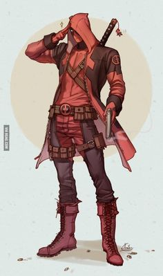 Here's sweet piece of mashup art that combines Deadpool with Assassin's Creed or Devil May Cry.