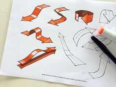 Design Sketching - arrows add energy and effectively communicate functions