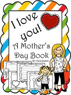 This is a fantastic book that incorporates literacy in to a Mother's Day gift! This book has 10 pages each designed for elementary learners to express their love and appreciation for that special woman in their lives.  There are four versions of the Mother's Day book in this set. This is to accommodate children with different living situations. The books are for a mother, a grandmother, an aunt and a sister.