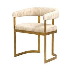 Bezout Dining Chair  MidCentury  Modern, Leather, Metal, Upholstery  Fabric, Dining Chair by Larkin Gaudet, Llc