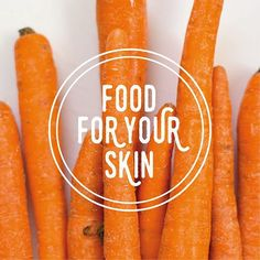 Carrots are packed with vitamins A & C, antioxidants, & Potassium! Great for reducing redness and inflammation, and for promoting even skin tone and preventing premature wrinkles! Bonus: they're delicious