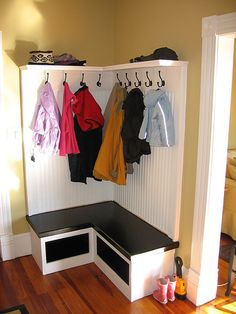 built in coat rack - Google Search
