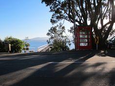 The phone box in Karaka Bay.what is a phone box doing in Karaka Bay? Golden Gate Bridge, This Book, Phone, Box, Travel, Inspiration, Biblical Inspiration, Telephone, Snare Drum