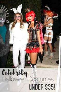 Celebrity halloween costumes under $35 for women. Great party idea. Show up in style.