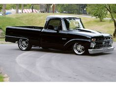 1966 Ford F100.  Love the stance. Old Ford trucks have gotta be my favorites.The dirtier, the better.