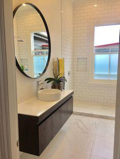 Renovated bathroom in 1900 Villa NZ. Clean, white & bright.