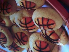 March Madness basketball designed cookies!!