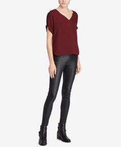 POLO RALPH LAUREN Polo Ralph Lauren Georgette V-Neck Shirt. #poloralphlauren #cloth # tops