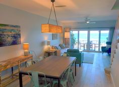 Newly renovated living room at Cayman Sunset (http://www.caymanvacationcondo.com)