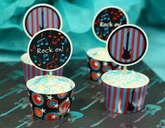 cute rock n roll Cupcakes ♥ it