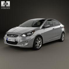 3D Model Hyundai Accent 2012 - 3D Model