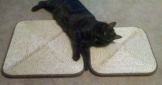 Check out NEW - 15 in Square Cat Scratcher / Sisal Rope Scratcher Board on customkittycreations