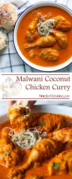 Malwani coconut Chicken Curry recipe has the sublime earthiness that comes from dry roasting fresh coconut and blending it together with spices. Veg Recipes, Indian Food Recipes, Asian Recipes, Chicken Recipes, Dinner Recipes, Cooking Recipes, Recipies, Comida India, Coconut Curry Chicken