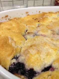 Blackberry Cobbler - The Easiest Yet!  My dad (that isn't complimentary often) said this was delicious