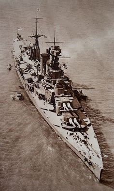 HMS Hood, 1926. The largest battlecruiser ever built