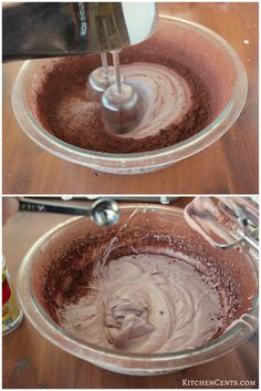 An airy, delicious chocolate mousse recipe with 3 ingedients and whips up in LESS THAN 5 MINUTES. This easy mousse will be enjoyed by all chocolate lovers! Easy Chocolate Desserts, Chocolate Treats, Delicious Chocolate, Chocolate Recipes, Chocolate Cakes, Chocolate Lovers, Chocolate Mousse Filling Recipe, Frosty Recipe, Chocolate Mouse