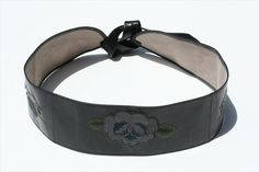 embroided belt - black Leather Accessories, Leather Bag, Leather Bag Men, Leather Products, Leather Bags