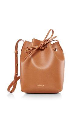 Mansur Gavriel Mini Leather Bucket Bag In Camello Leather Purses, Leather Handbags, Mansur Gavriel Bucket Bag, Marc Jacobs Handbag, Shoulder Handbags, Shoulder Bags, Mini Handbags, Simple Bags, Leather Shoulder Bag