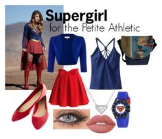"""""""Supergirl for the Petite Athletic"""" by custom-chaos on Polyvore featuring Chicwish, Chicnova Fashion, Wet Seal and Lime Crime"""