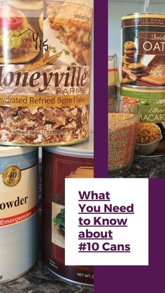 What you need to know about #10 cans in your food storage. How to find the best price for #10 cans. How to find the best price for freeze dried food storage. Freeze dried food storage tips. Freeze Drying Food, Refried Beans, Food Storage, Need To Know, Frozen, Fresh, Canning, Tips, Preserving Food