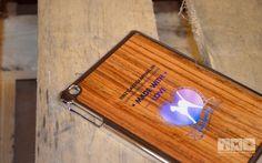 Holz farbig bedruckt - Apple iPad Case