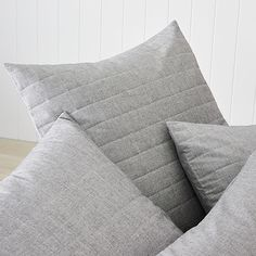 Austin Chambray Quilt Cover Charcoal