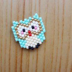 Tissage du dimanche #petit hibou #brickstitch #perlesmiyuki