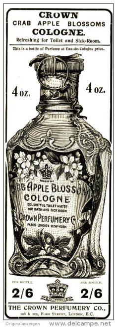 Original - Anzeige / Advertise 1903 : (ENGLISH) CRAB APPLE BLOSSOM COLOGNE / CROWN PERFUMERY - 60 x 175 mm