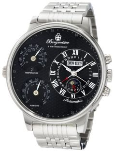 Burgmeister Men's BM309-121 Montana Automatic Watch Burgmeister. $270.00. Automatic. Case diameter: 54 mm. Hygrometer. Water-resistant to 165 feet (50 M). Mineral crystal. Save 77% Off!