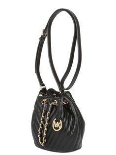 MICHAEL MICHAEL KORS - SMALL FRANKIE QUILTED LEATHER BUCKET - LUISAVIAROMA - LUXURY SHOPPING WORLDWIDE SHIPPING - FLORENCE