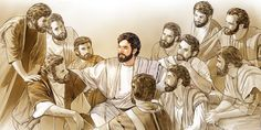 Jesus and the 11 faithful apostles