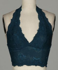 Look what I found on #zulily! Teal Lace Halter Top #zulilyfinds