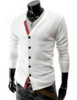 TheLees (SG10) Mens Casual Slim Fit Knit Cardigan