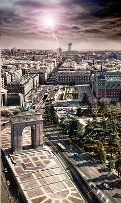 Madrid, Spain - Mirador Moncloa / by NoainDigital Places Around The World, The Places Youll Go, Travel Around The World, Places To See, Around The Worlds, Wonderful Places, Great Places, Beautiful Places, Spanish Architecture