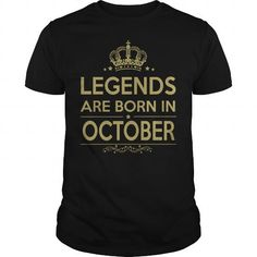 Awesome Tee LEGENDS ARE BORN IN OCTOBER T-Shirts