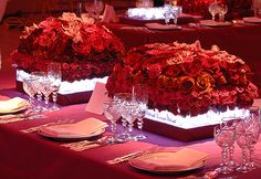 preston bailey table settings | Table Setting for Romantic Candlelight Reception | Event Ideas