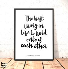 Audrey Hepburn Quote Print | Gift for Daughter Sister Girlfriend Friend | Art for Bedroom of Office | Print About Love and Friendship by boobooskins on Etsy #beauty #love #friendship #mates #bff #family #parents #sister #brother #sibling #love #decor #gift #bedroom #office #workspace #motivation #inspiration #audrey #hepburn #quote #boho #scandi #minimal #words #bold #simple #fresh #best #together #monochrome #black #white #grey