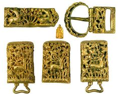 Belt Fitments 13th-early 14th centuries Gold Covering the period from the 13th to the end of the15th centuries, the collection of artifacts and objects of everyday life from the Golden Horde Khanate contains items produced in all regions of this enormous state, which stretched from the Danube to the River Irtysh in Siberia.