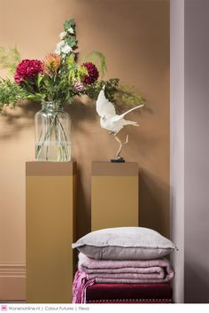 Heart Wood The Comforting Home Flexa Woonkamerinspiratie Wall Colors, Colours, Bloom Baby, Honey Colour, Color Of The Year, Floating Nightstand, Color Trends, Color Inspiration, Comforters