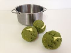 Pretend Play Felt Food Brussel Sprouts (each)