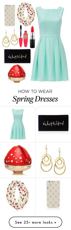 """""""Kate Spade dress"""" by sewing-girl on Polyvore featuring Kate Spade, MAC Cosmetics, Devon Leigh and Maybelline"""