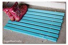 Ombre Wood Slat Doormat Mat