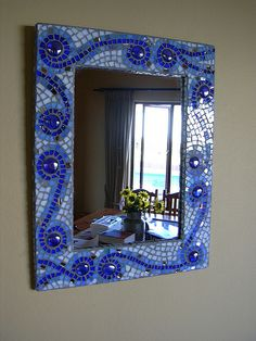 stained glass mosaic mirror                                                                                                                                                                                 Más