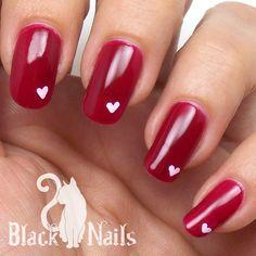 Pink Nail Designs, Simple Nail Designs, Valentine Nail Art, Nails For Valentines Day, Valentine Heart, Gel Nail Tips, Heart Nail Art, Cat Nails, Trendy Nail Art