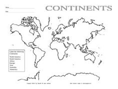7 Continents Coloring Pages (PDF)
