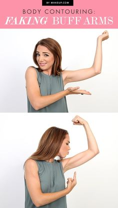 If you're planning to wear a tank top or sleeveless dress but feel like you may have skipped the gym a few too many times, we've got just the fix. Here's a fun guide to contouring buff arms!