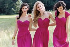 Raspberry Dresses Occasions Bridesmaid Prom