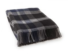 Classic Checked Wool Throw