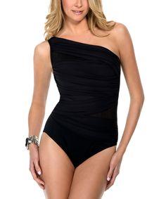 Black Network Jena Asymmetrical One-Piece by Miraclesuit